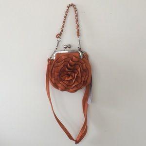 Orange rosebud small pocketbook